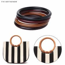 <b>THINKTHENDO</b> Fashion New <b>Round</b> Wooden Handle for ...