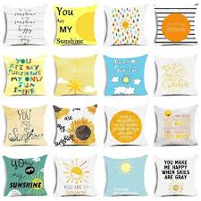 Creative You Are My Sunshine <b>Printed Sofa</b> Cushion Cover Summer ...
