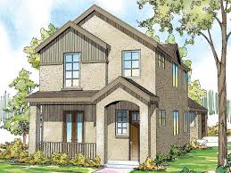 Narrow Lot Home Plans    Story Narrow Lot House Plan   H     Narrow Lot House Plan  H