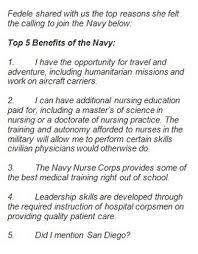 reason to become a navy nurse