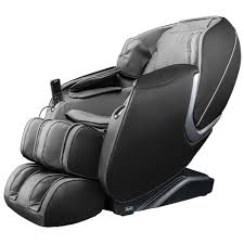 TITAN Osaki OS-Aster <b>Grey Faux</b> Leather Reclining <b>Massage Chair</b> ...