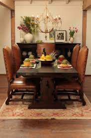 reclaimed wood brown dining table