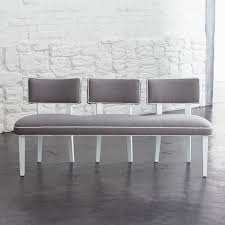 cushioned dining bench shaped