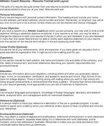 athletic coaching resume   sales   coach   lewesmrsample resume  athletic coach resume for