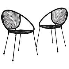 <b>Garden Chairs 2 pcs</b> PVC Rattan Black Sale, Price & Reviews ...
