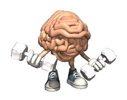 pic of brain lifting dumbells