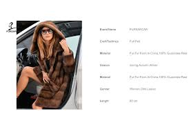 <b>FURSARCAR</b> Brown <b>Full Pelt Luxury</b> Real Mink Fur Women Coat ...