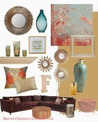 decor red blue room full: blending blush colours with teal living room style ideas home interior mood board home decor tan red blue teal coral brown gold bronze