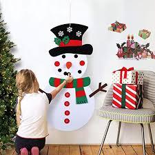 OurWarm DIY Felt Christmas Snowman Game Set ... - Amazon.com