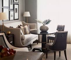 dining room khaki tone: beautiful layers light gray walls with deeper upholstery and rich wood tones