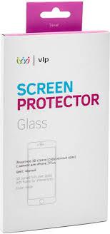 <b>Защитное стекло VLP 3D</b> для iPhone 7 plus (черный)