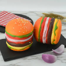 050 Fashion Simulation food model fake bread colorful hamburger ...