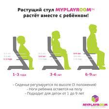 <b>Растущий стул</b> для ребенка - купить в Москве регулируемый ...