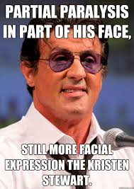 partial paralysis in part of his face, Still more facial ... via Relatably.com