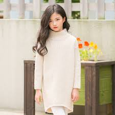 <b>Girls</b> Turtleneck Dress <b>2018 New Fashion</b> Christmas Sweater Dress ...