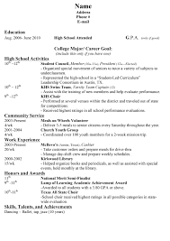 sample resume for teens job resume cover letter word templates sample resume for teens resume highschool sample objective high school student high school college resume student