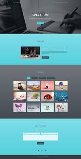 spectrum one page portfolio template bootstrap templates spectrum one page portfolio template