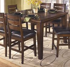 extension table f: ashley  ashley furniture larchmont dining room counter butterfly extension table a