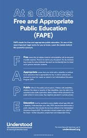 what is and appropriate public education definition of fape