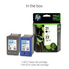 <b>HP SD367AE 21</b>/<b>22</b> Original Ink Cartridges, Black and Tri-Colour ...