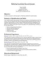 marketing coordinator resume objective marketing coordinator resume sample leisure studies resume sample marketing coordinator resume sample leisure studies resume sample