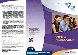 doctor in education edd national institute of education nie brochure doctor in education
