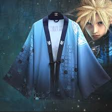 <b>Anime Final Fantasy</b> VII Cloud Strife Haori Cloak <b>Cosplay</b> Costume ...