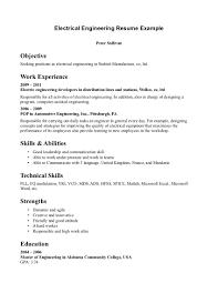 electrical engineering internship resumes template electrical engineering internship resumes
