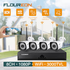 FLOUREON 1080P <b>Wireless</b> CCTV Home Security Camera System ...