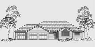 One Story House Plans  Car Garage House Plans  Bedroom HouseHouse side elevation view for One story house plans  car garage house plans