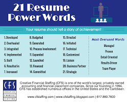 creative financial staffing power words to improve your resume power words to improve your resume