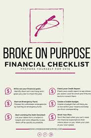 financial checklist broke on purpose is 2016 going to be your year of financial change