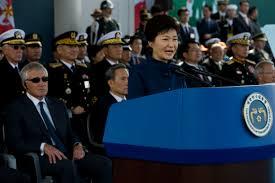 us department of defense photo essay  us defense secretary chuck hagel left listens as south korean president park geun