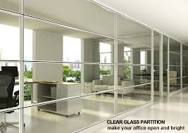 easy assembly competitive price aluminum frame wall glass panel office partitionhk85 series aluminum office partitions