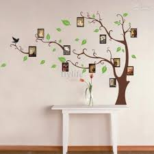 Small Picture Large Art Photo Frames Tree Wall Decor Stickers Green Leaves on