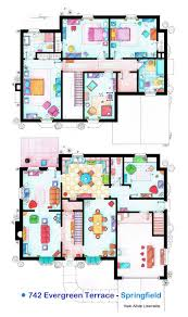 Floor plans of homes from famous TV showsThe Simpsons House