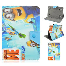 Cartoon Minions Flip Folio Stand <b>PU Leather tablet Cover Cases</b> For ...