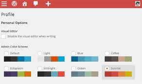 default admin color schemes in wordpress 38 change color scheme theme