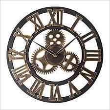 Vintage <b>Wall</b> Clock Nordic <b>Creative Wooden Wall</b> Clock Round <b>Gear</b> ...