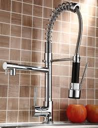 pull kitchen faucet color: pull down kitchen sink faucet swivel spout mixer chrome finish youtube