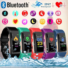 115 Plus Waterproof Smart <b>Bracelet</b> Sport <b>Smart Watch Fitness</b> ...