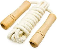 Cotton Jump Rope for Kids - Wooden Handle ... - Amazon.com