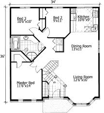 Barrier Free Small House Plan   PD   st Floor Master Suite    Floor Plan