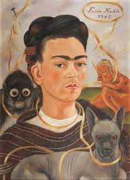 <b>Self</b>-<b>portrait with</b> Small Monkey - Frida Kahlo — Google Arts & Culture