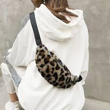 Woman Wide <b>Shoulder</b> Strap <b>Chest Bag</b> Crossbody <b>Bag Leopard</b> ...