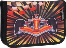 <b>Herlitz Пенал</b> Formula 1 с наполнением <b>31</b> предмет, цвет черный ...