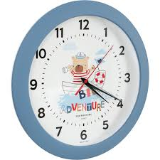 <b>Часы</b> настенные «<b>Мишка</b>» круглые 29 см цвет морской во ...