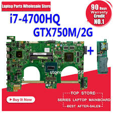 Send board+with <b>i7 4700HQ GT750M</b> 2GB <b>N550JV</b> Motherbord For ...
