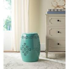 patio stool: quatrefoil aqua patio stool df cb bf ac cfd