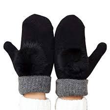 FinancePlan Women's <b>Fashion</b> Cute Wool Mittens <b>Winter Thicken</b> ...